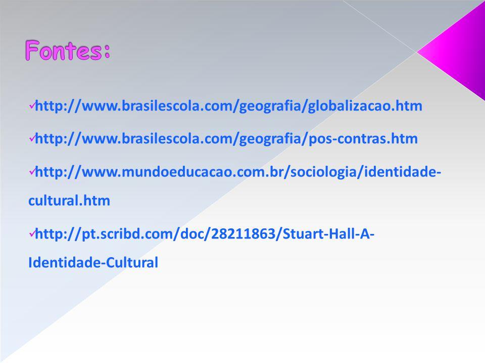 http://www.brasilescola.com/geografia/globalizacao.htm http://www.brasilescola.com/geografia/pos-contras.htm http://www.mundoeducacao.com.br/sociologi