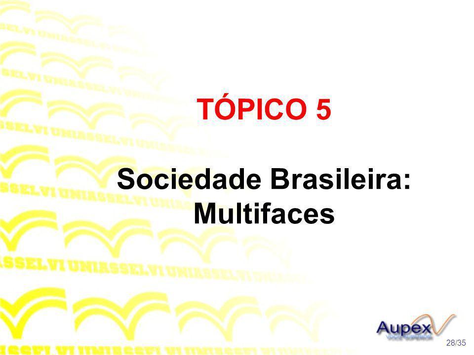 TÓPICO 5 Sociedade Brasileira: Multifaces 28/35
