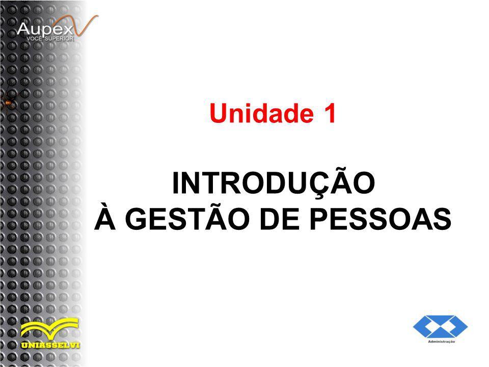 Unidade 1 INTRODUÇÃO À GESTÃO DE PESSOAS