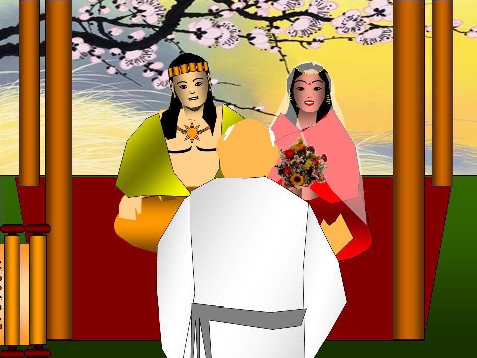 Quando tinha dezesseis anos, o jovem príncipe, embora desejasse tornar-se um asceta, concordou em se casar. Siddhartha concordou com a condição de enc