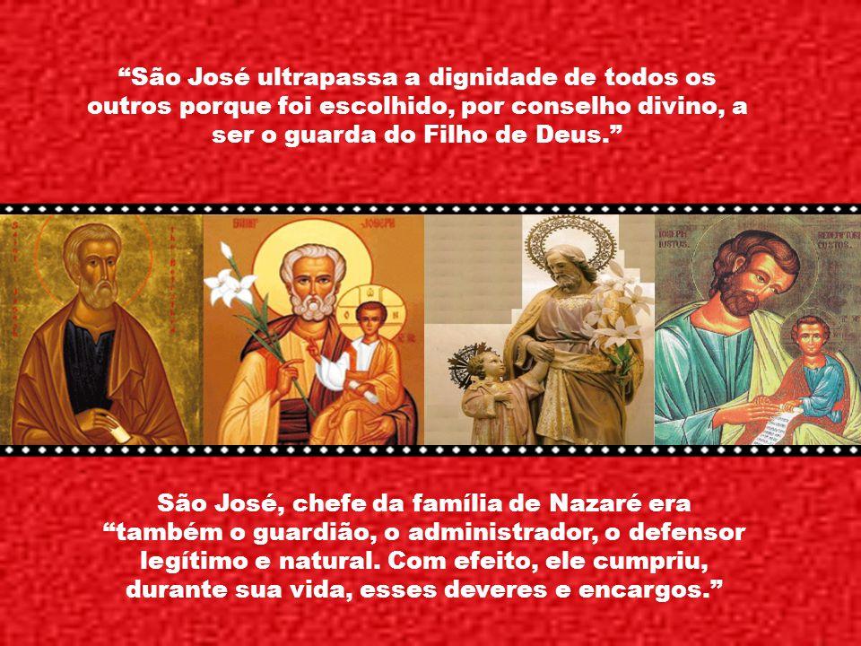 Caríssimos, Os motivos pelos quais São José é expressamente considerado padroeiro da igreja e pelos quais, por sua vez, a igreja espera de sua proteçã