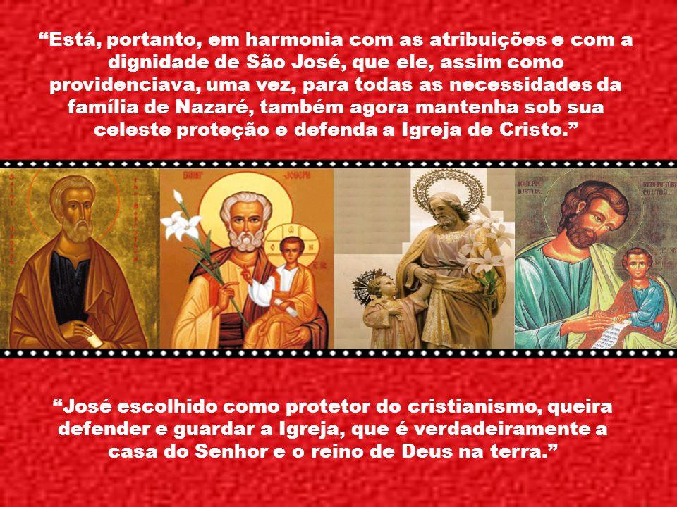 Essa casa divina que José dirigiu com funções paternas continha em germe a Igreja nascente. O santo Patriarca sente que lhe é confiada a multidão dos