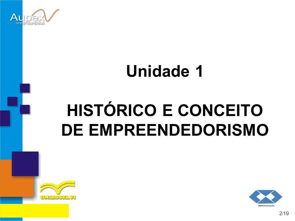 Unidade 1 HISTÓRICO E CONCEITO DE EMPREENDEDORISMO 2/19