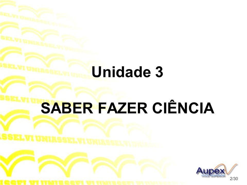 Unidade 3 SABER FAZER CIÊNCIA 2/30