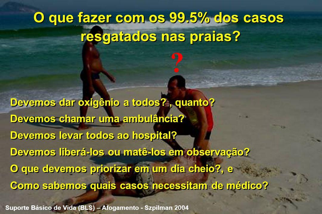 Está estabelecido para todos os Guarda-vidas Estes casos são apenas 0.5% de todos os casos resgatados pelos guarda- vidas nas praias Parada Respiratór