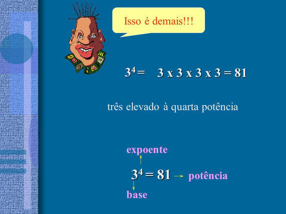 Observe as potências de base 10: 10 1 = 10 10 2 = 100 10 3 = 1000 10 4 = 10000 10 5 = 100000 Toda potência de base 10 é igual ao número 1 seguido de tantos zeros quantos forem as unidades do expoente.