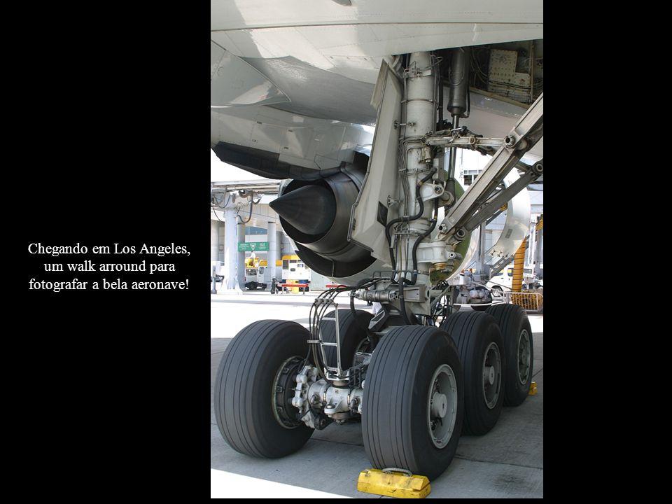 Chegando em Los Angeles, um walk arround para fotografar a bela aeronave!