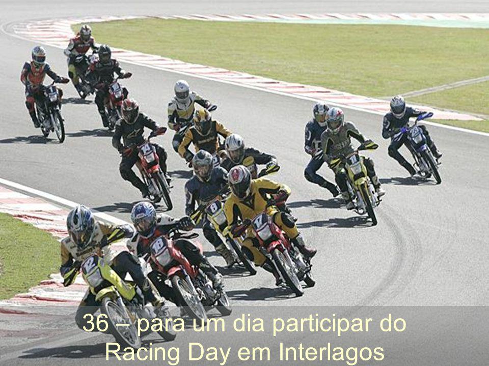 36 – para um dia participar do Racing Day em Interlagos