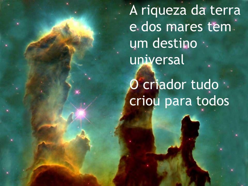 Ele disse: dominai sobre a terra, sobre os peixes do mar, sobre as aves do céu, sobre os animais.