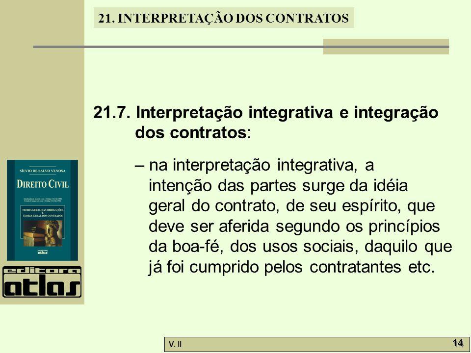 V.II 14 21. INTERPRETAÇÃO DOS CONTRATOS 21.7.