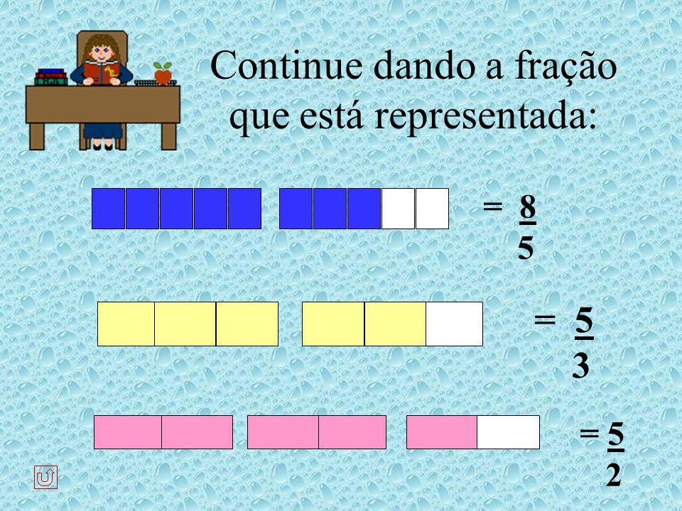 Frações maiores ou iguais ao inteiro. São chamadas frações impróprias :