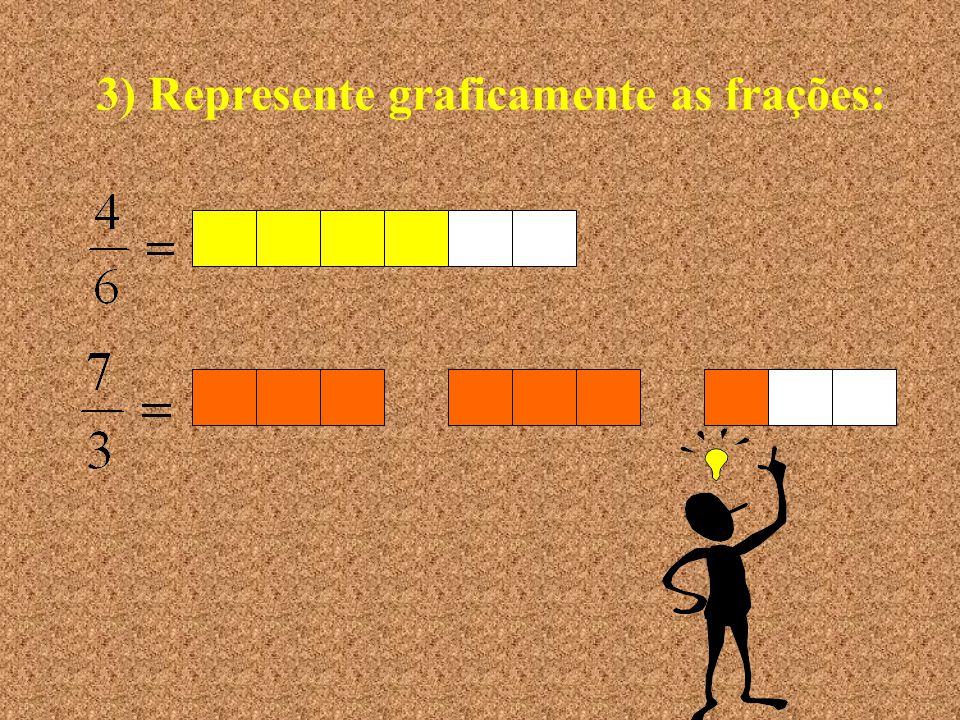 2) Escreva as frações por extenso: nove quintos sete centésimos três dezesseis avos