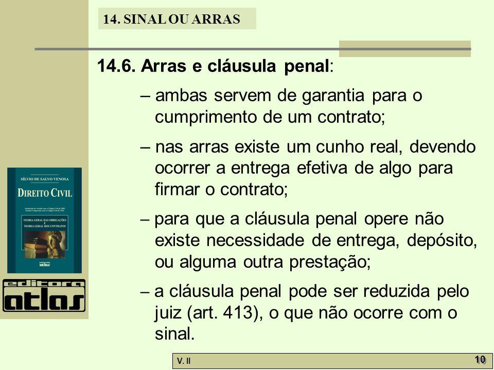 V.II 10 14. SINAL OU ARRAS 14.6.