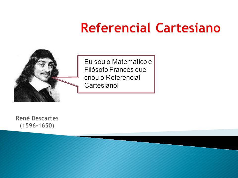 Um referencial cartesiano é formado por duas rectas perpendiculares, que se intersectam num ponto designado por origem.