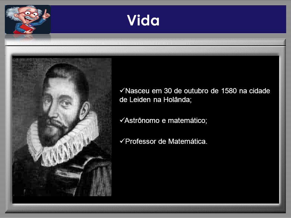 Vida Nasceu em 30 de outubro de 1580 na cidade de Leiden na Holânda; Astrônomo e matemático; Professor de Matemática.