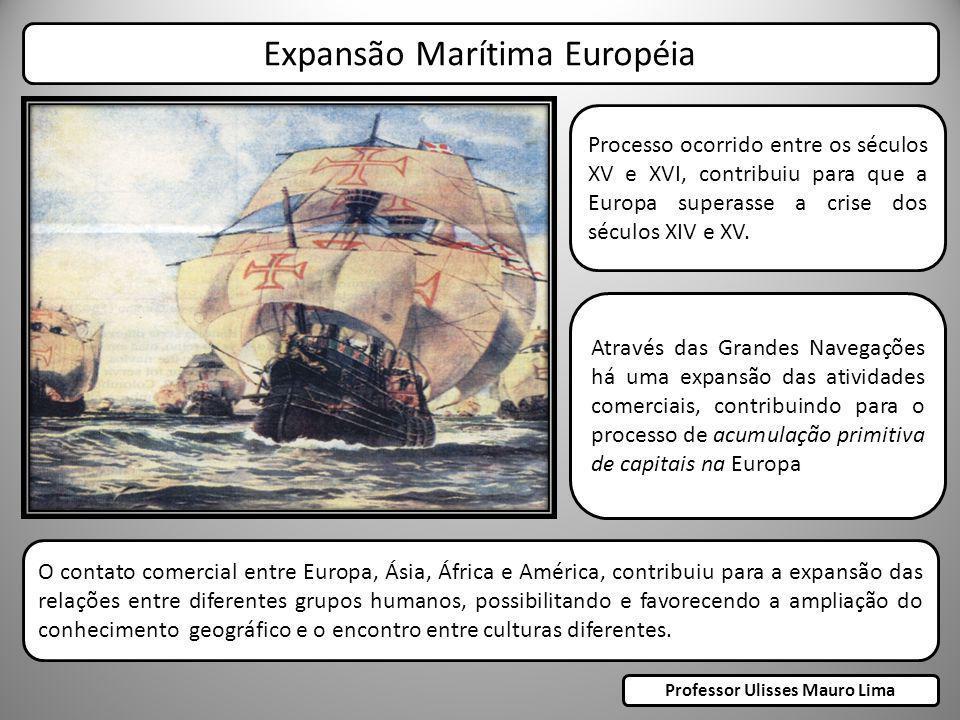 Processo ocorrido entre os séculos XV e XVI, contribuiu para que a Europa superasse a crise dos séculos XIV e XV. Expansão Marítima Européia Através d