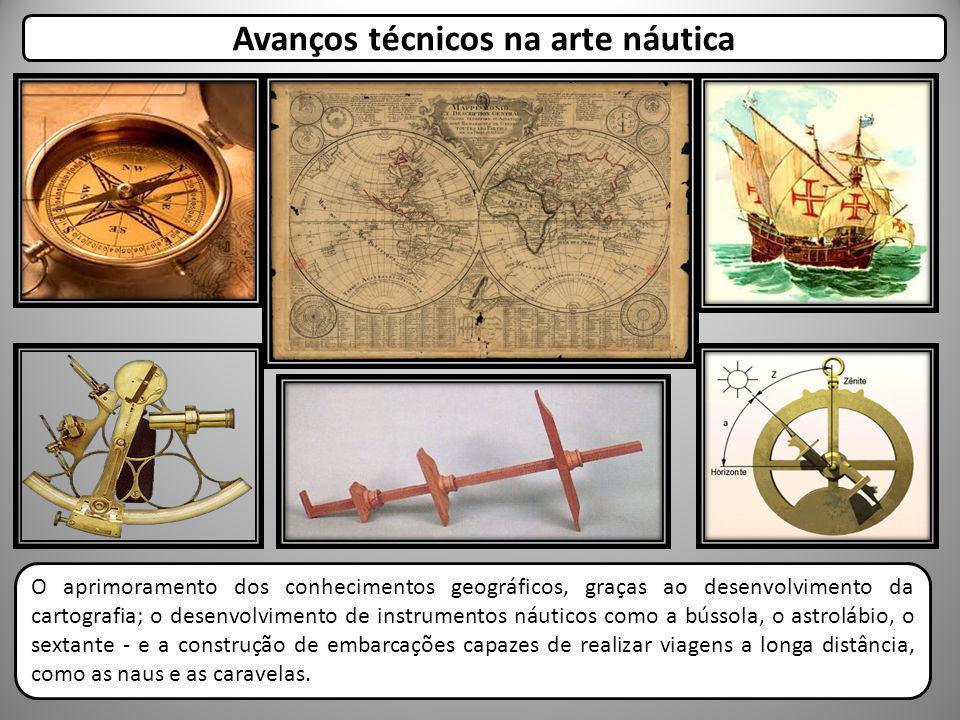 O aprimoramento dos conhecimentos geográficos, graças ao desenvolvimento da cartografia; o desenvolvimento de instrumentos náuticos como a bússola, o