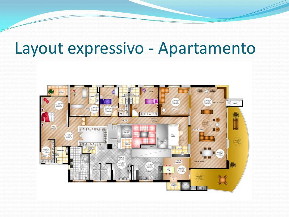 Layout expressivo - Apartamento