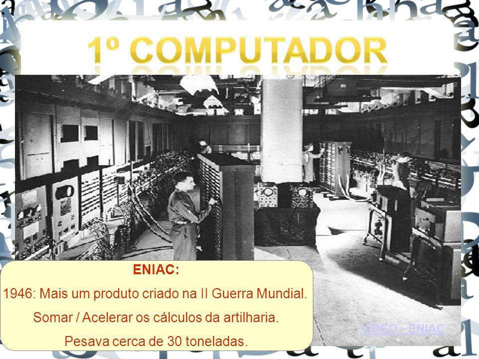 VÍDEO - ENIAC ENIAC: 1946: Mais um produto criado na II Guerra Mundial.