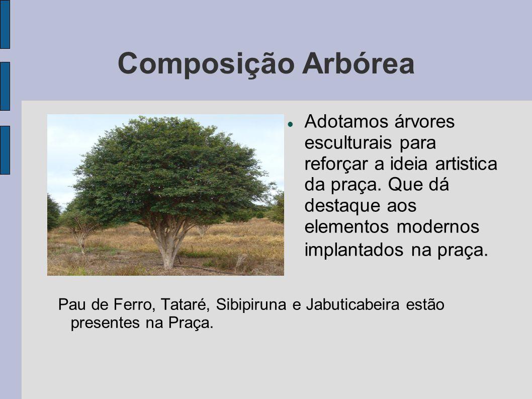 Composição Arbórea Jasmin Manga– Pata de Elefante – Tataré – Jabuticabeira – Sibipiruna