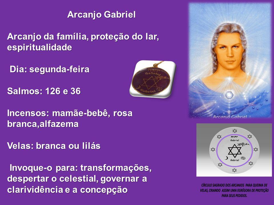 Arcanjo Gabriel Arcanjo da família, proteção do lar, espiritualidade Arcanjo da família, proteção do lar, espiritualidade Dia: segunda-feira Dia: segu