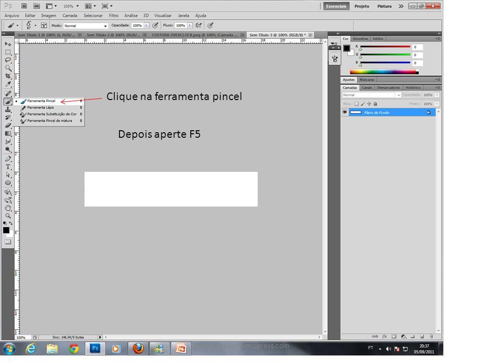Depois de apertar F5, a caixa ao lado se abre. Procure pela figura paivamockups.wordpress.com