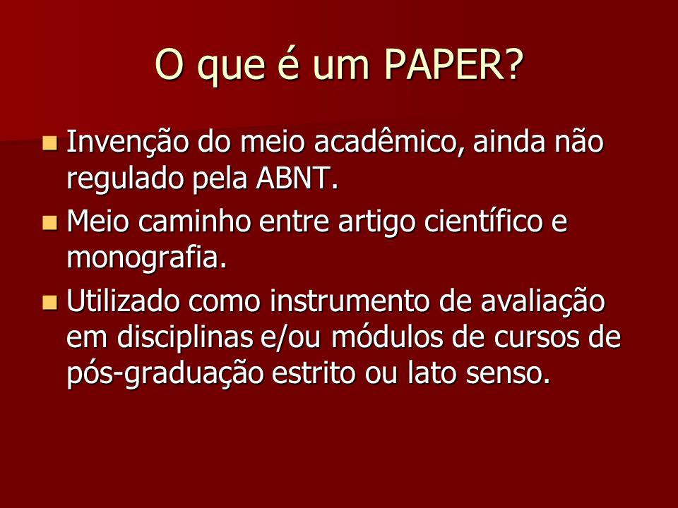 ELEMENTOS DO PAPER - 3 PÓS-TEXTUAIS Referências Apêndice(s) Anexo(s) PÓS-TEXTUAIS Referências Apêndice(s) Anexo(s) PÓS-TEXTUAIS Referências Apêndice(s) Anexo(s) PÓS-TEXTUAIS Referências Apêndice(s) Anexo(s)