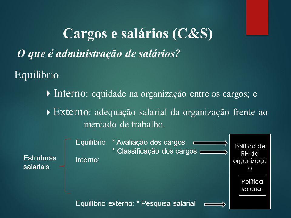 Cargos e salários (C&S) O que é administração de salários.