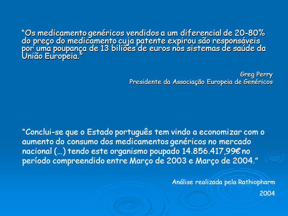 Preços mais baixos Para o SNS: Permitem importantes economias na área dos medicamentos que podem ser reinvestidas noutras áreas deste sector Permitem