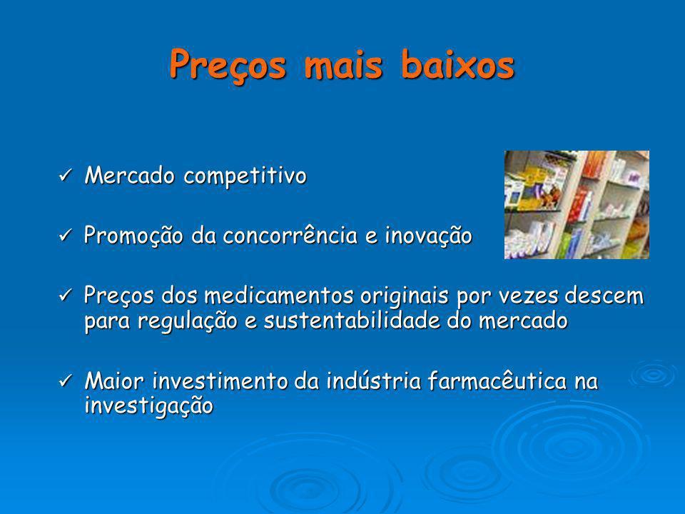 Conclui-se que o Estado português tem vindo a economizar com o aumento do consumo dos medicamentos genéricos no mercado nacional (…) tendo este organi