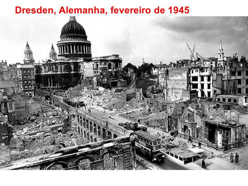 Dresden, Alemanha, fevereiro de 1945