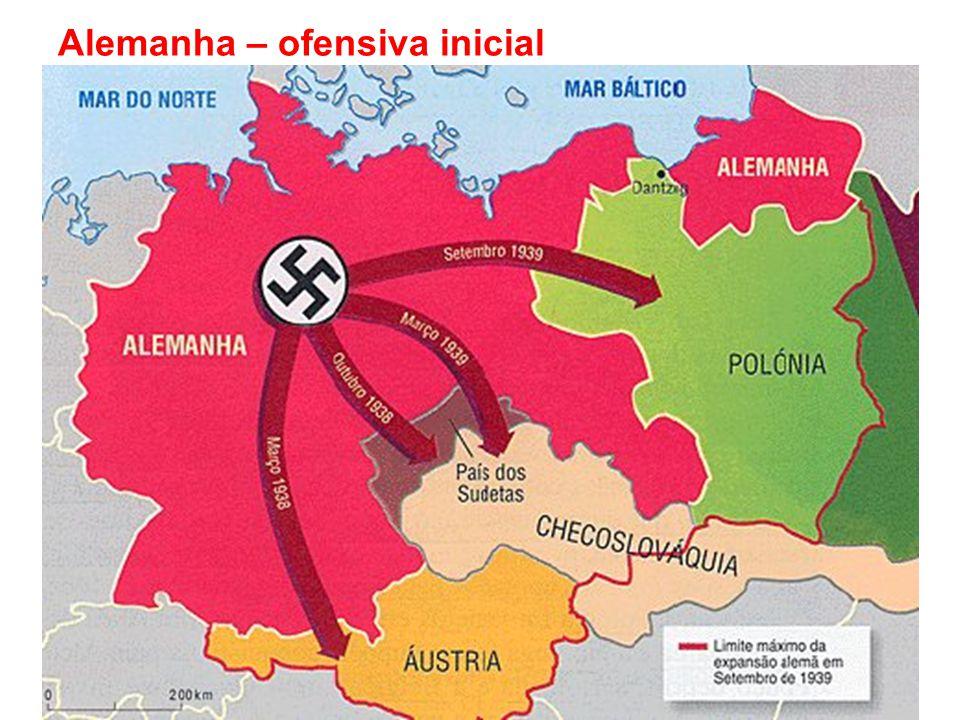 Alemanha – ofensiva inicial