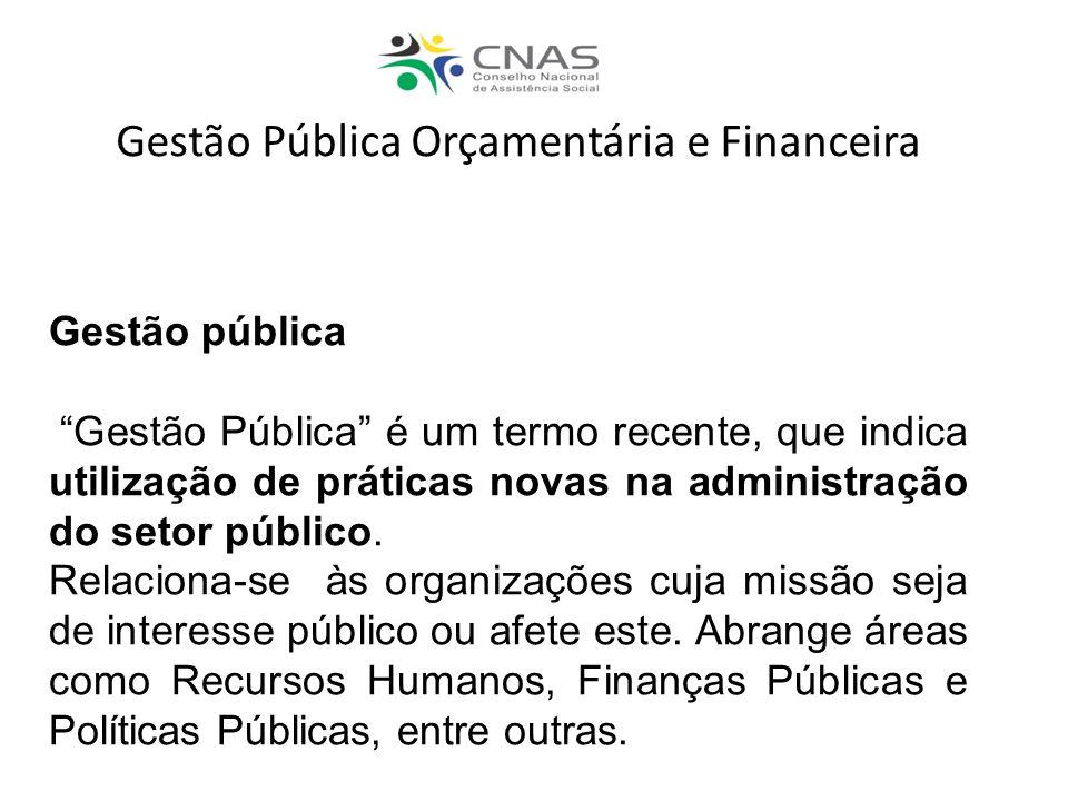 Gestão pública Gestão Pública é um termo recente, que indica utilização de práticas novas na administração do setor público. Relaciona-se às organizaç