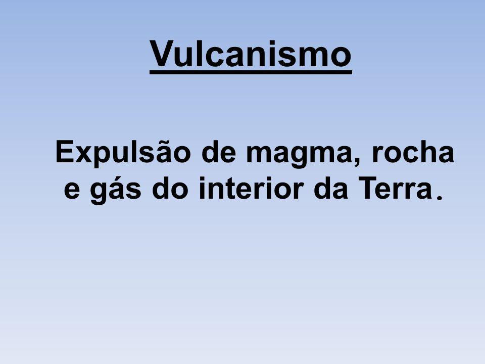 Vulcanismo Expulsão de magma, rocha e gás do interior da Terra.