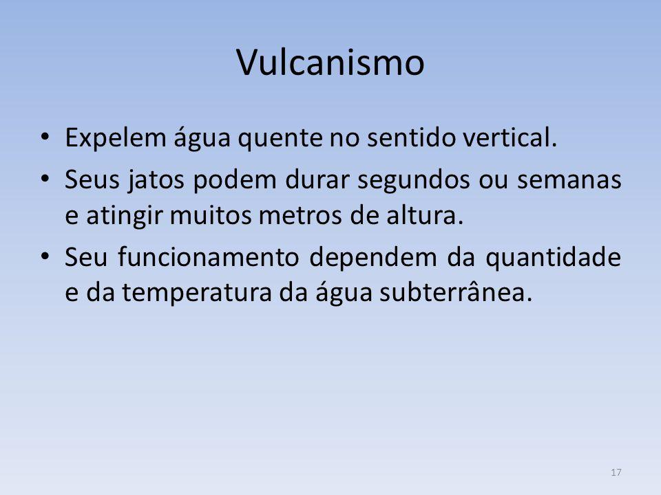 17 Vulcanismo Expelem água quente no sentido vertical.