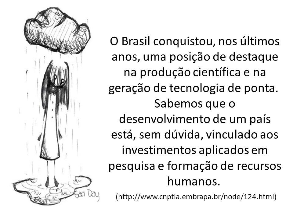 O Brasil conquistou, nos últimos anos, uma posição de destaque na produção científica e na geração de tecnologia de ponta. Sabemos que o desenvolvimen