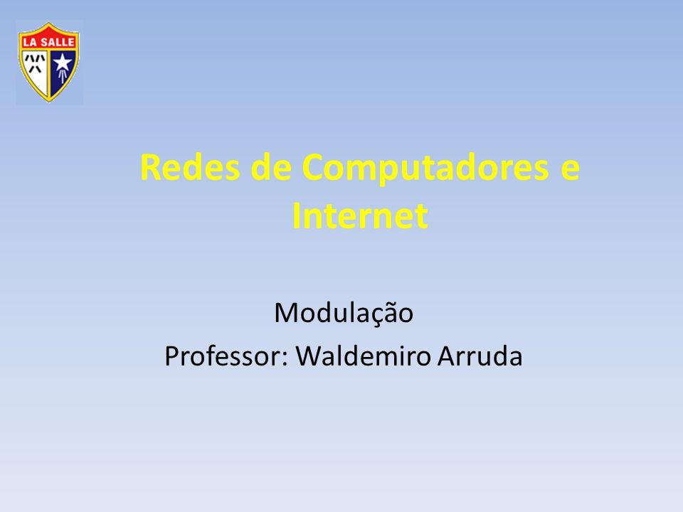 Gestão da Tecnologia da Informação Redes de Computadores e Internet Modulação Um sinal possui três variáveis Amplitude Frequência Fase