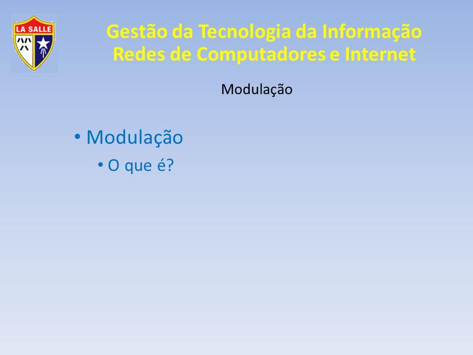 Gestão da Tecnologia da Informação Redes de Computadores e Internet Modulação Modulação Digital ASK