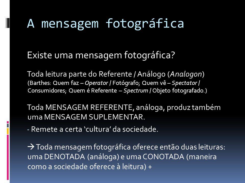 A mensagem fotográfica Existe uma mensagem fotográfica.