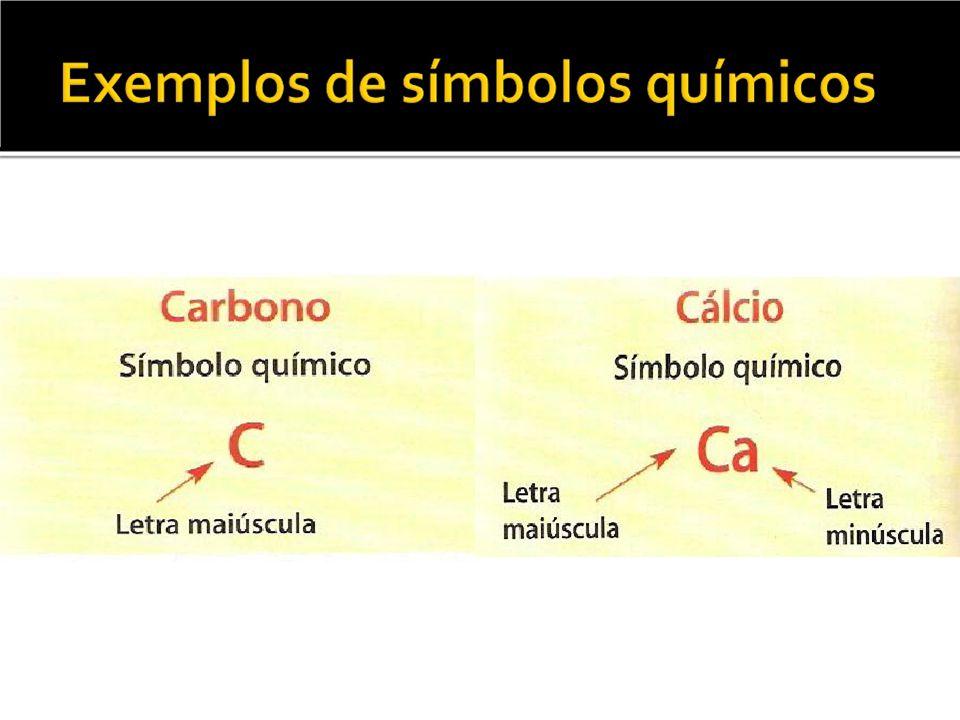 RepresentaçãoSignificadodarepresentação O -é o símbolo químico do elemento oxigénio; -representa 1 átomo de oxigénio.