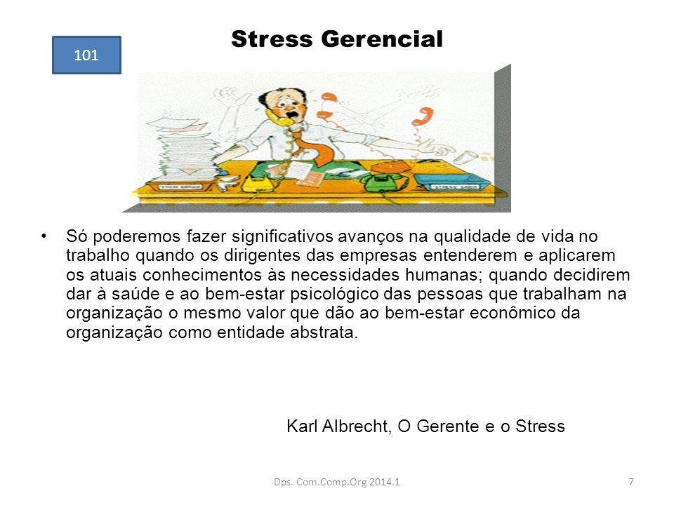 Stress Gerencial Só poderemos fazer significativos avanços na qualidade de vida no trabalho quando os dirigentes das empresas entenderem e aplicarem o