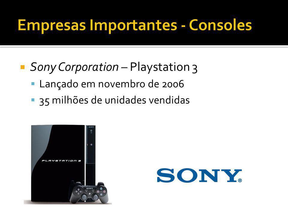Sony Corporation – Playstation 3 Lançado em novembro de 2006 35 milhões de unidades vendidas