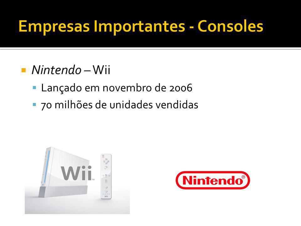 Nintendo – Wii Lançado em novembro de 2006 70 milhões de unidades vendidas