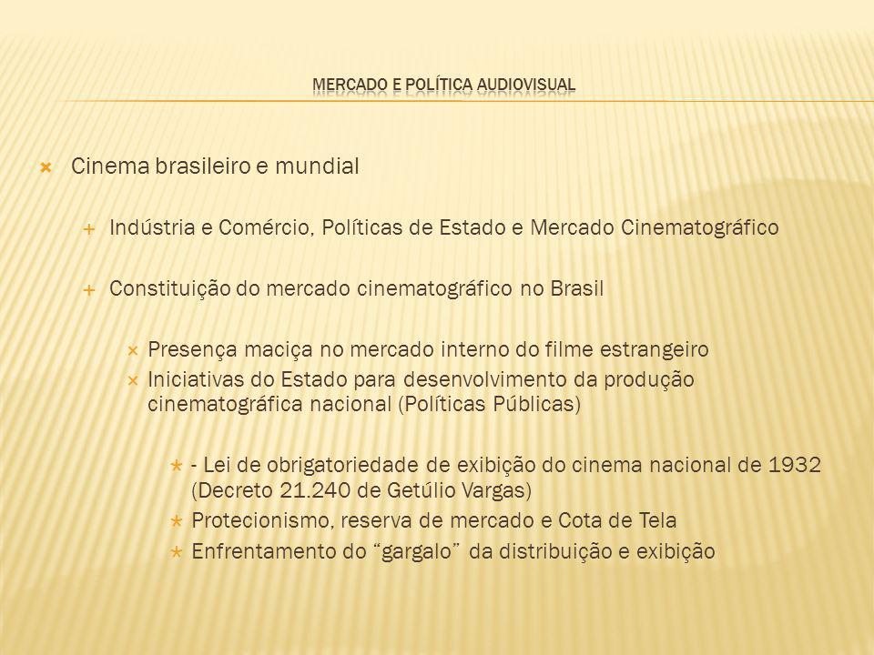 Cinema brasileiro e mundial Indústria e Comércio, Políticas de Estado e Mercado Cinematográfico Constituição do mercado cinematográfico no Brasil Pres