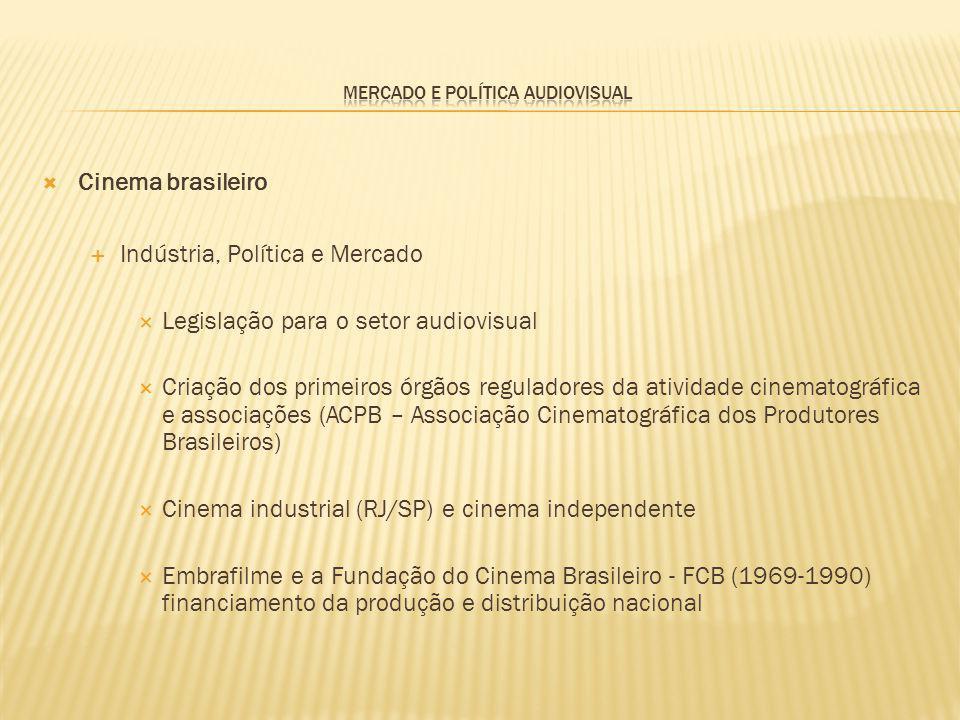 Cinema brasileiro Indústria, Política e Mercado Legislação para o setor audiovisual Criação dos primeiros órgãos reguladores da atividade cinematográf