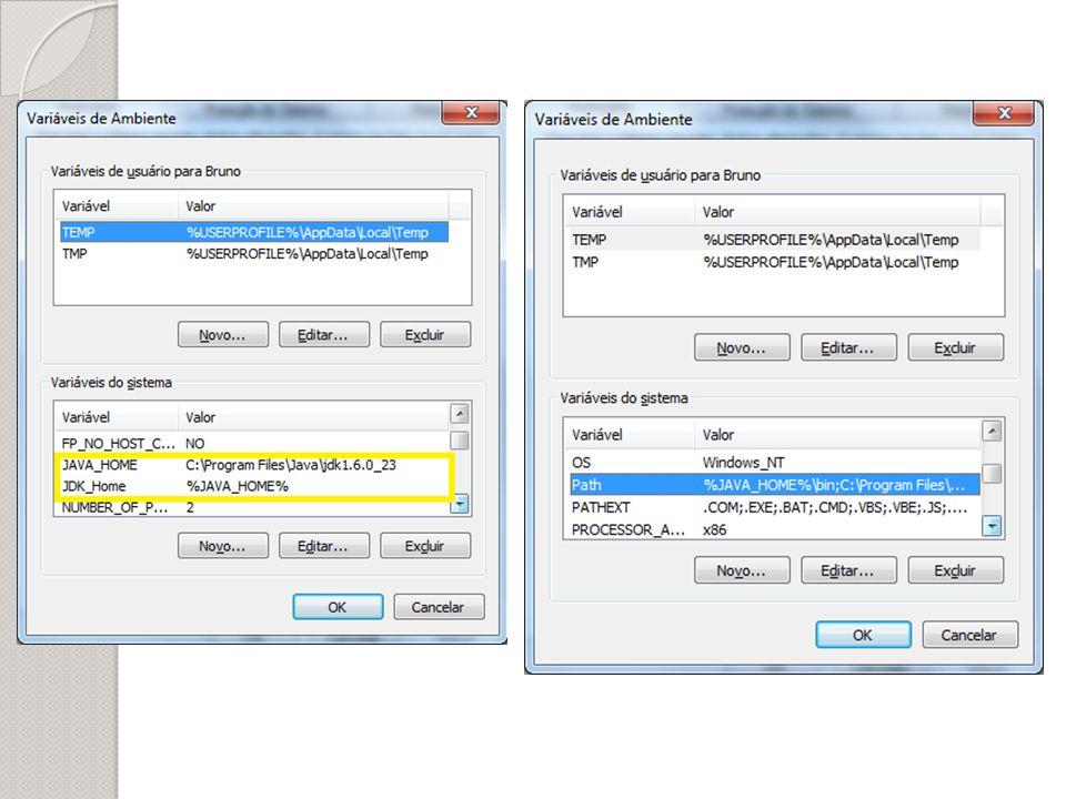 IDE Eclipse No site: http://www.eclipse.org/downloads/ http://www.eclipse.org/downloads/ Baixe Eclipse IDE for Java EE Developers.Eclipse IDE for Java EE Developers Nele já há um ambiente próprio para o desenvolvimento Web