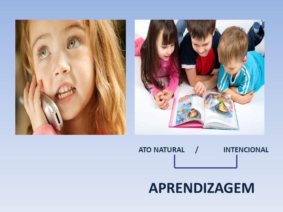 APRENDIZAGEM ATO NATURAL /INTENCIONAL