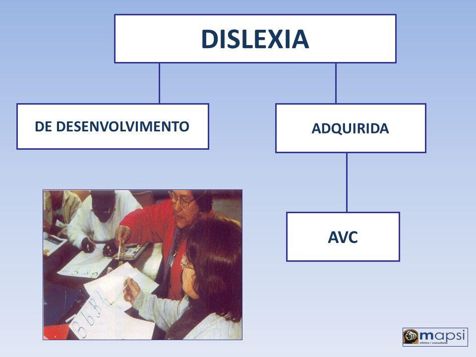 DISLEXIA DE DESENVOLVIMENTO ADQUIRIDA AVC
