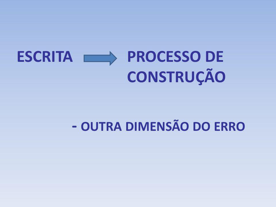 ESCRITA PROCESSO DE CONSTRUÇÃO - OUTRA DIMENSÃO DO ERRO