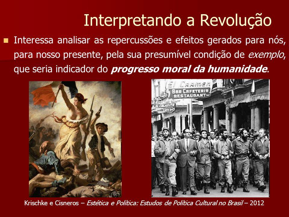 Interpretando a Revolução Interessa analisar as repercussões e efeitos gerados para nós, para nosso presente, pela sua presumível condição de exemplo, que seria indicador do progresso moral da humanidade.
